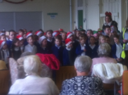 School Choir Entertaining the elderly